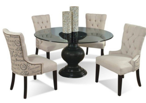 Armless Chairs and Table from Tyndall Furniture in Charlotte, NC