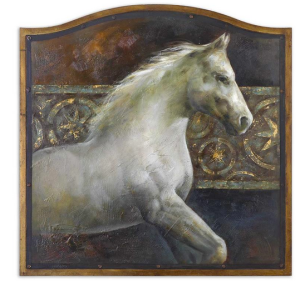 Uttermost Accessories Majestic Friend Art, Horse 34236 at Tyndall Furniture Galleries, Charlotte NC